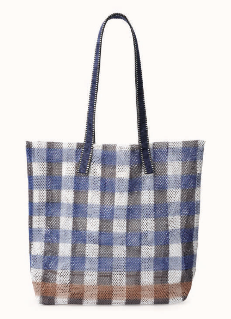 Epice Mesh Tote Bag in Ultramarine Check