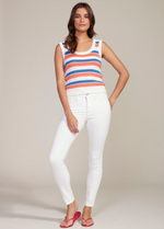 Load image into Gallery viewer, Striped Knit Sweater Tank in Ivory Combo