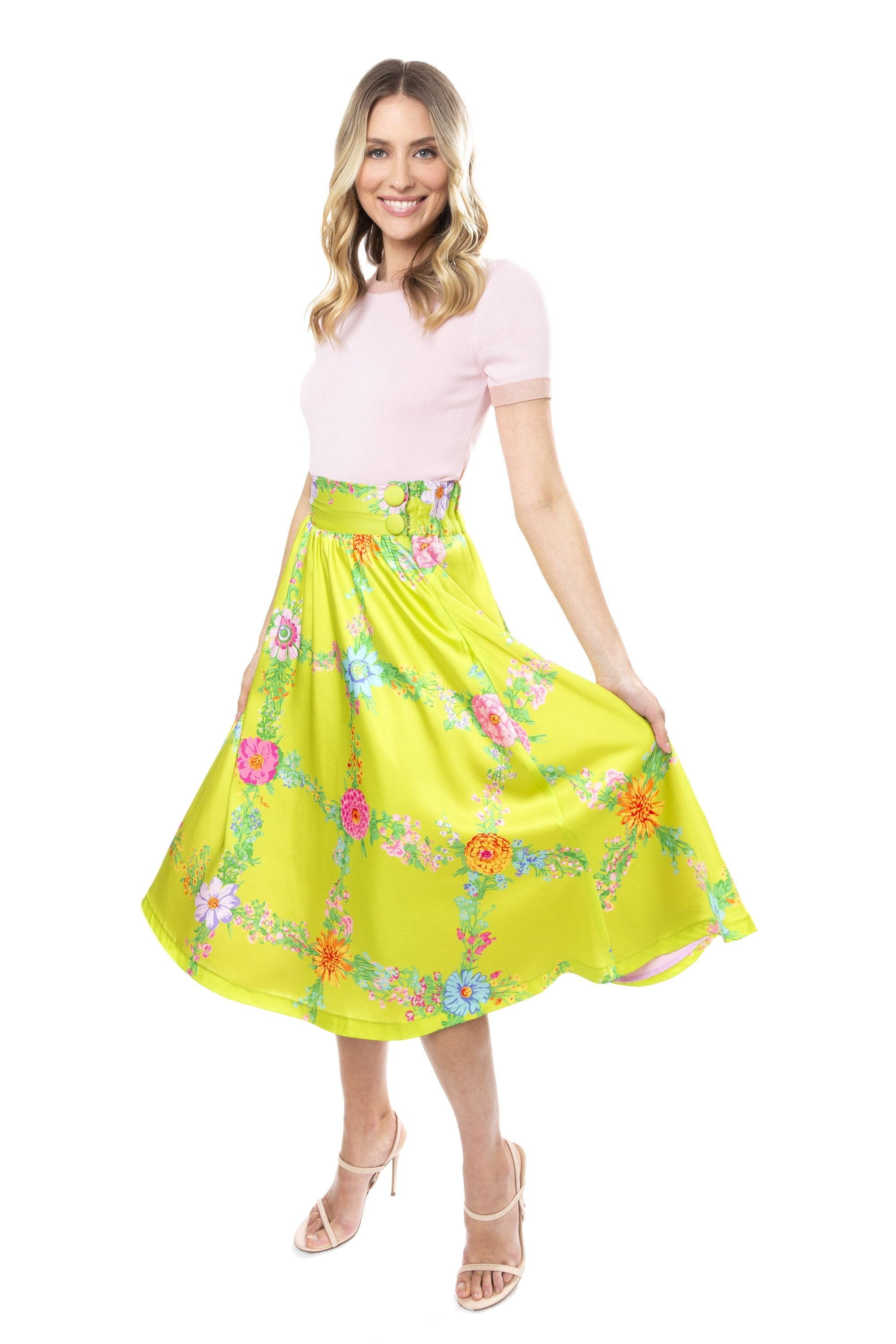 Tulip Skirt in Skittle Print