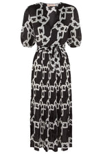 Load image into Gallery viewer, Supine Chain Print V-Neck Midi Dress