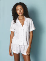 Load image into Gallery viewer, The Short Sleeve Pajama Set with Shorts in Bicycle