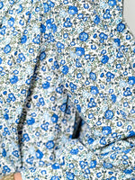 Load image into Gallery viewer, Balloon Sleeve Shirt in Blue Liberty