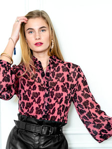 The Blush Leopard Shirt