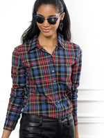 Load image into Gallery viewer, Icon Shirt in Red Tartan