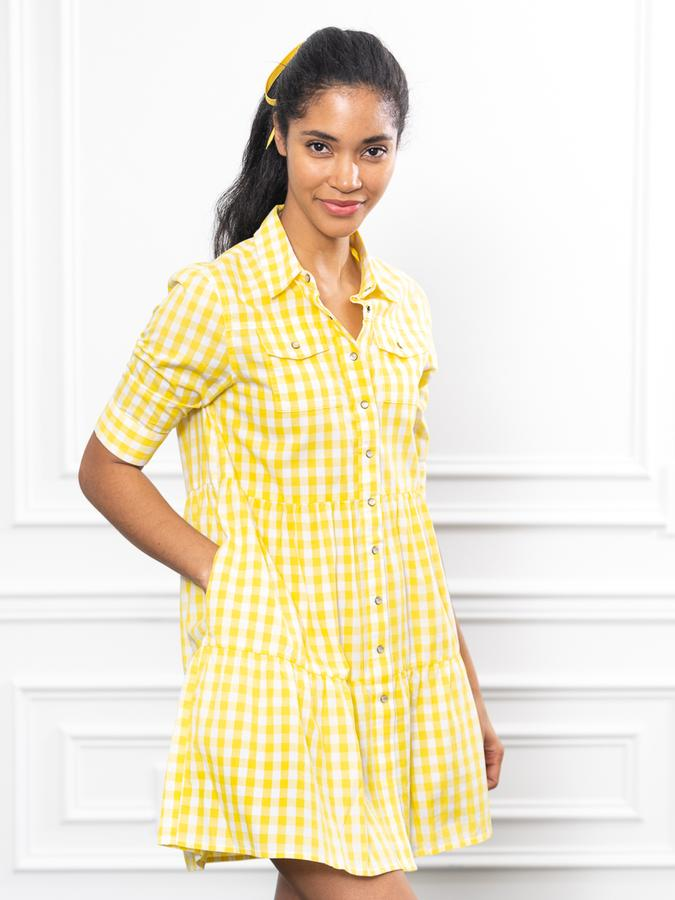 The Jules Dress in Lemon