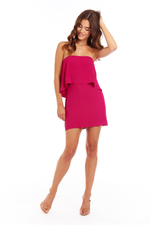 Load image into Gallery viewer, Topanga Mini Dress in Magenta