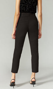 Top Stitch Belted Trouser in Black