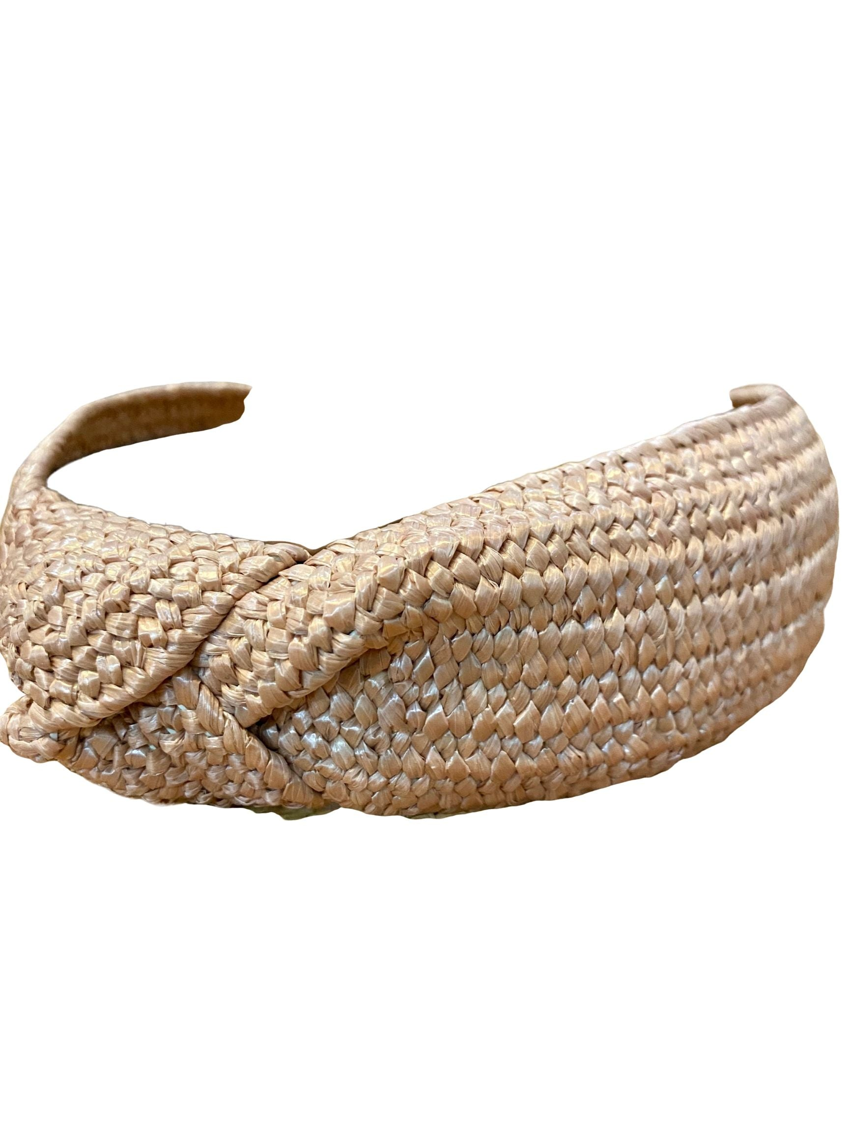 Rattan Headband in Blush