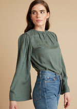 Load image into Gallery viewer, Bell Sleeve Top in Martini Green