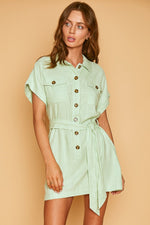 Load image into Gallery viewer, Garden Girl Mini Dress in Mint