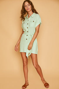 Garden Girl Mini Dress in Mint