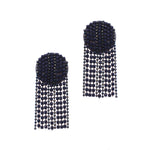 Load image into Gallery viewer, Jerica Crystal Waterfall Earring in Navy