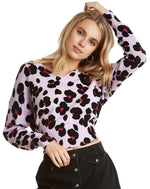 Load image into Gallery viewer, Leopard Print Sweater in Wisteria