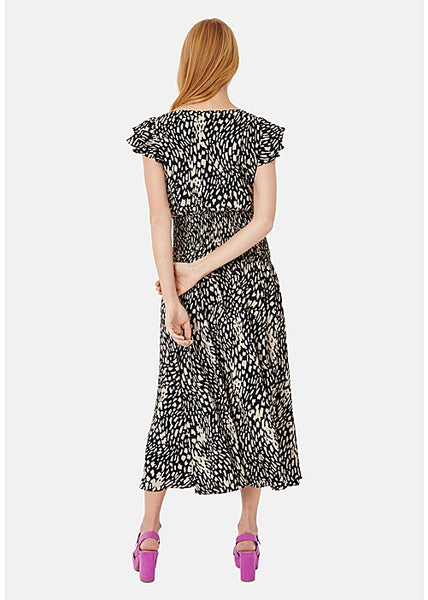 Whispers Midi Dress in Abstract Dot