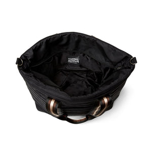 Wingman Bag in Black Noir/Cream