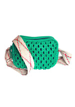 Load image into Gallery viewer, Zavata Woven Leather Crossbody Bag in Green