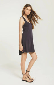 Avery Jersey Dress in Washed Black