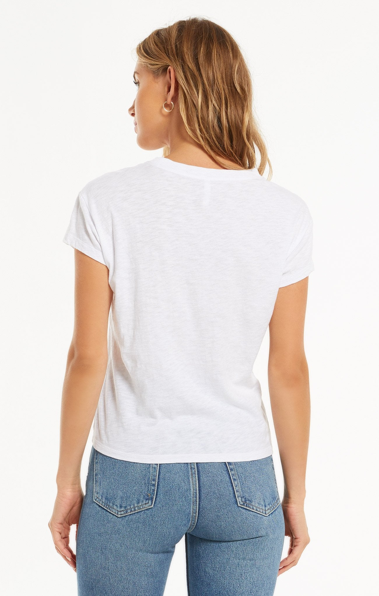 Modern Slub Tee in White