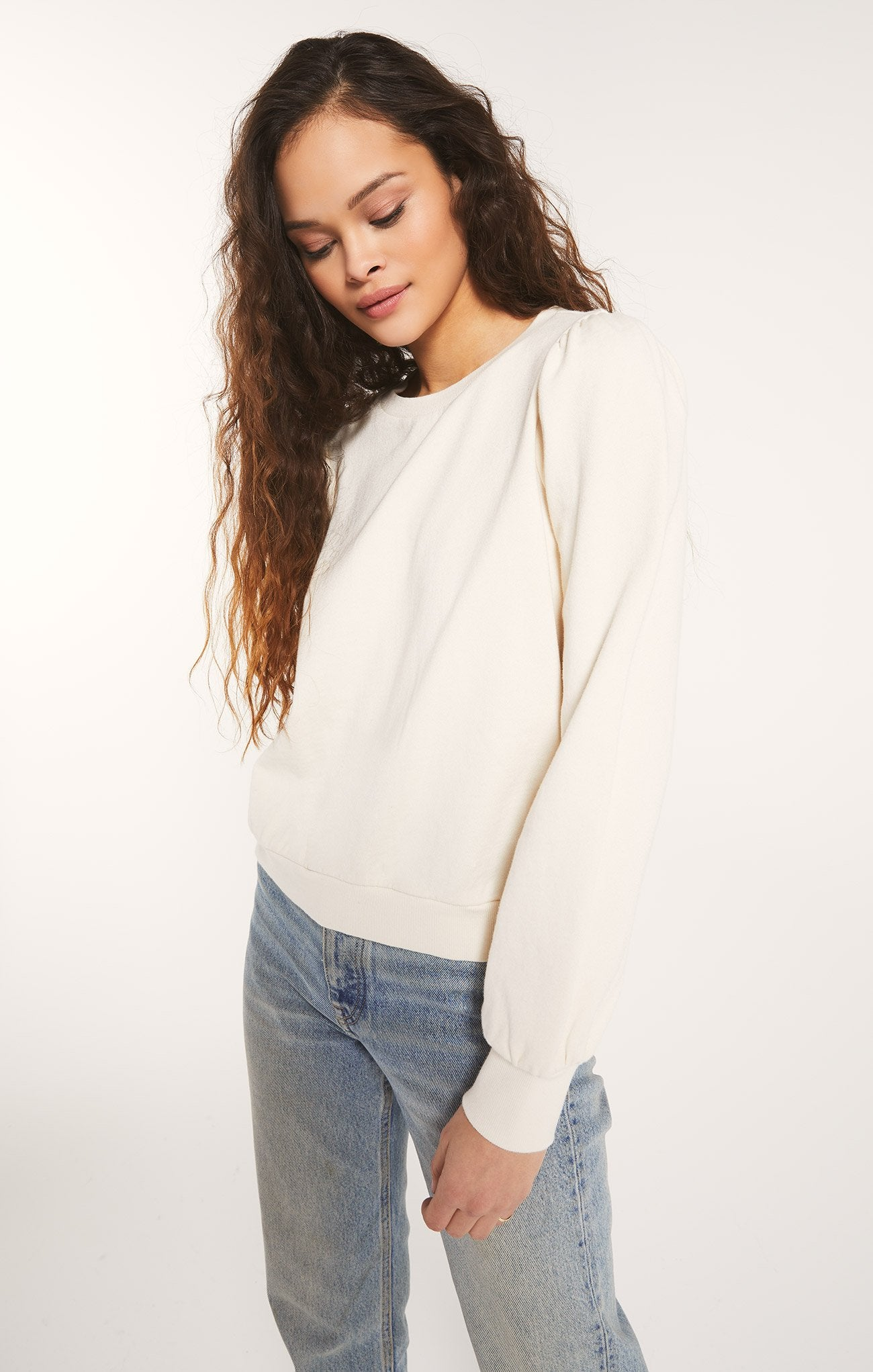 Zoe Sweatshirt in Bone
