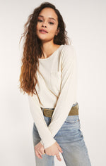 Load image into Gallery viewer, Mina Organic Long Sleeve in Bone