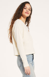 Mina Organic Long Sleeve in Bone