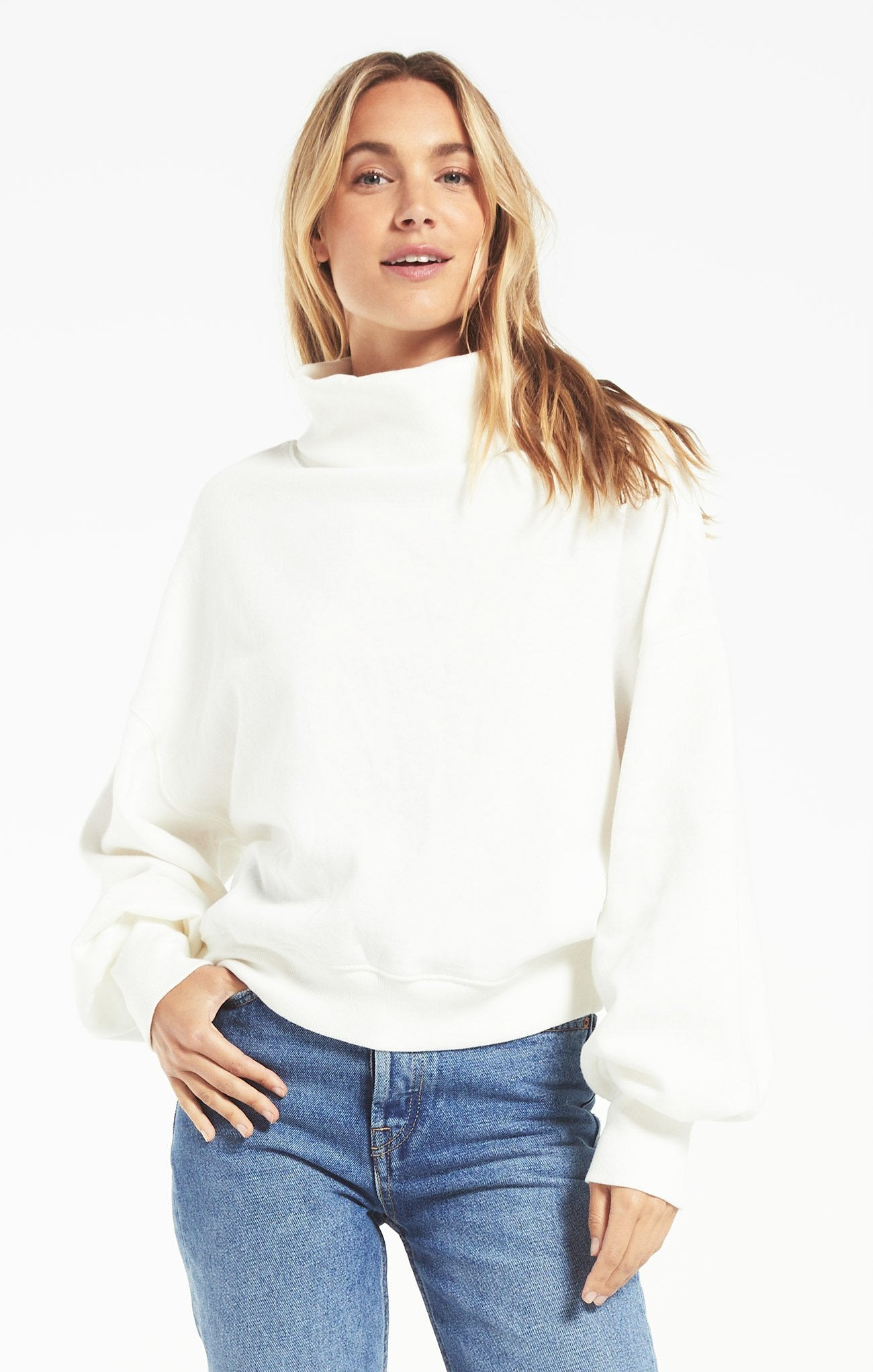 Ellis Turtleneck Pullover in Vanilla Ice