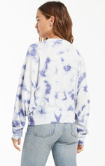 Load image into Gallery viewer, Claire Cloud Tie-Dye Top in Dusty Navy
