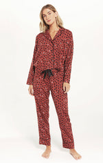 Load image into Gallery viewer, Dream State Heart PJ Set in Rosy Red