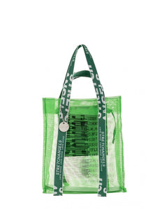 Mesh Shopping Tote in Green