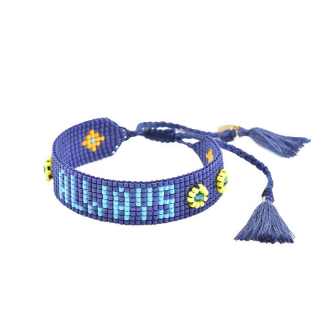 ALWAYS Beaded Bracelet in Blue