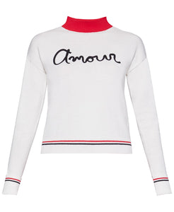 Amour Sweater in Vintage White