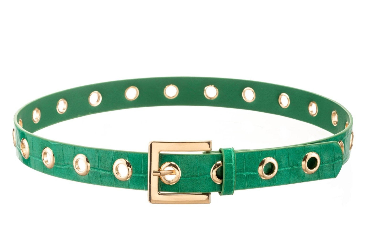 Grommet Belt in Green