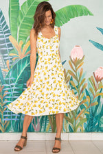 Load image into Gallery viewer, Antonia Dress in Lemon Ivory