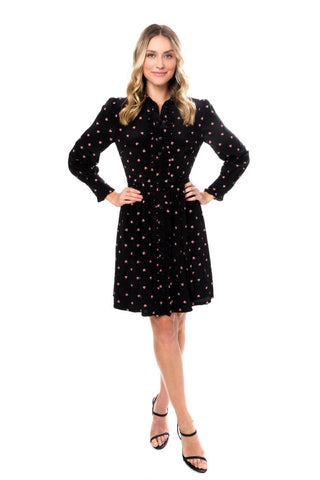 Ari Shirt Dress in Ditsy Floral