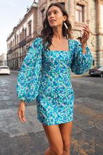 Load image into Gallery viewer, Audrina Dress in Groovy Seaside