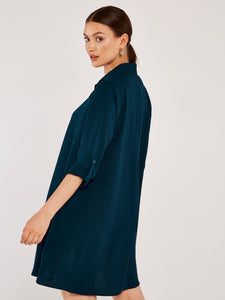 Swing Shirt Dress in Teal