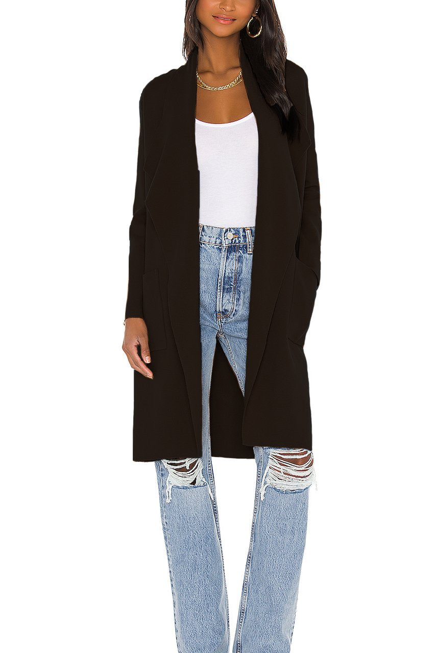 Teyana Sweater Jacket in Black