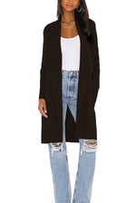Load image into Gallery viewer, Teyana Sweater Jacket in Black