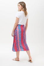 Load image into Gallery viewer, Adelia Folk Floral Midi Skirt