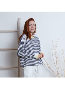 Breton Stripe Top in Navy