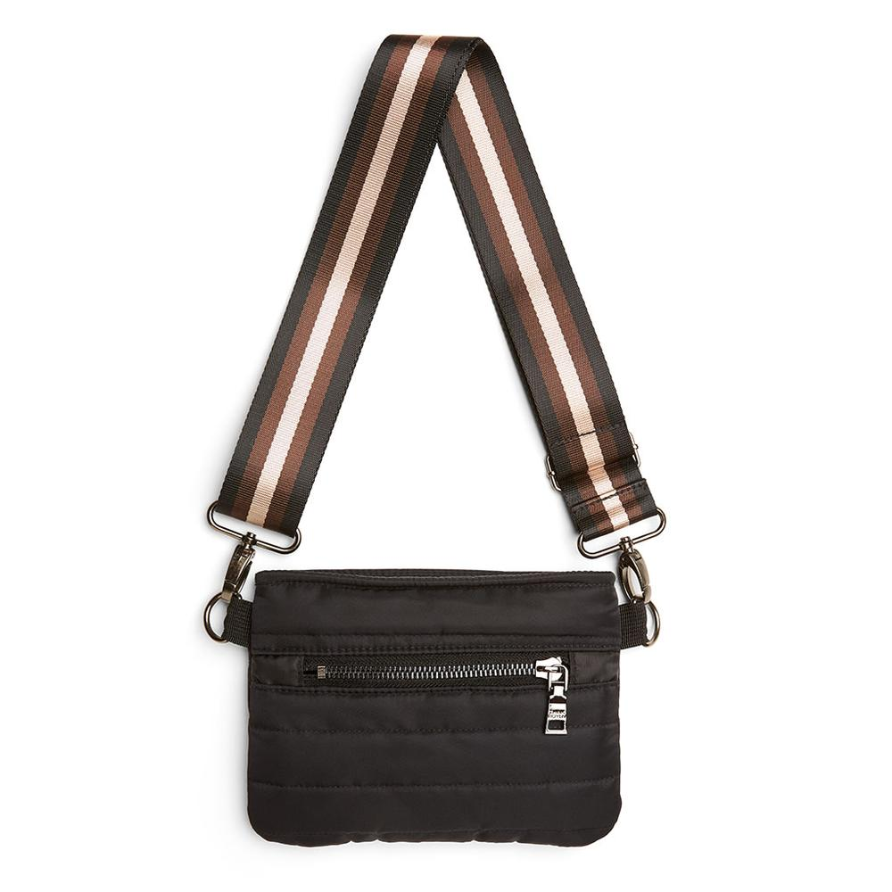 Bum Bag/Crossbody in Black Noir/Cream