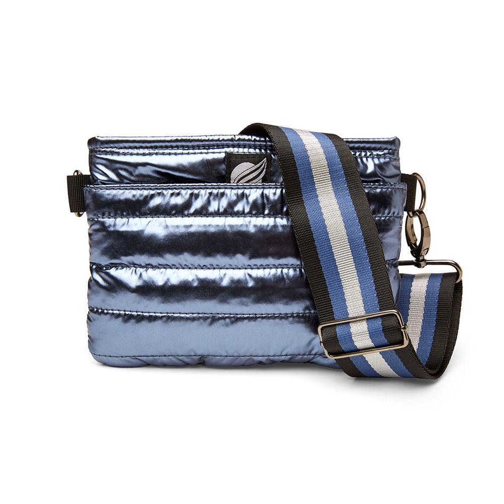 Bum Bag/Crossbody in Solid Blue Foil