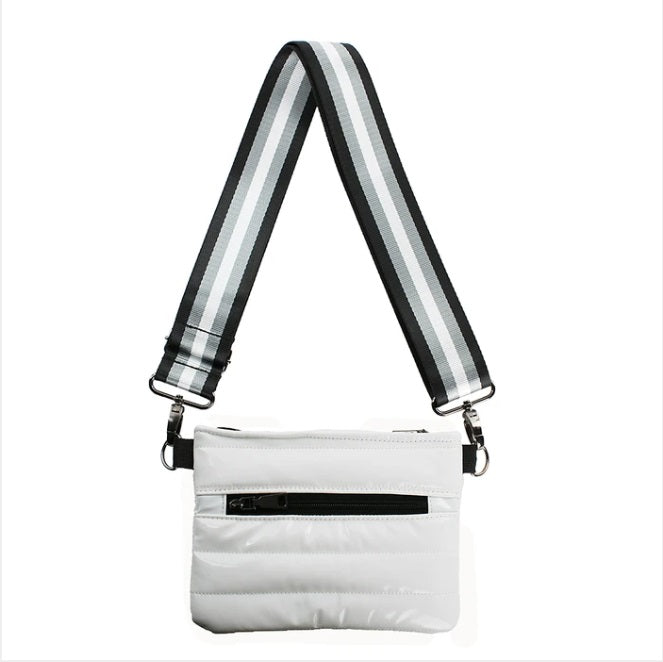 Bum Bag/Crossbody in White Patent