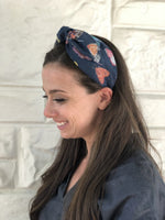 Load image into Gallery viewer, Fabric Headband in Blue Butterfly