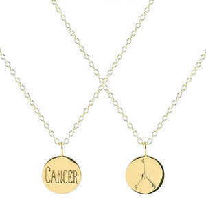 Reversible Zodiac Necklace in Cancer