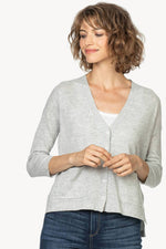 Load image into Gallery viewer, Button Front Cardigan Sweater in Smoke