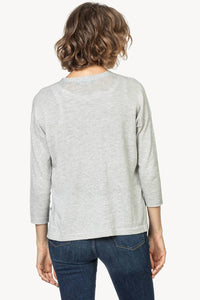 Button Front Cardigan Sweater in Smoke