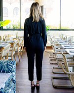 Load image into Gallery viewer, Long Sleeve Jumpsuit in Black