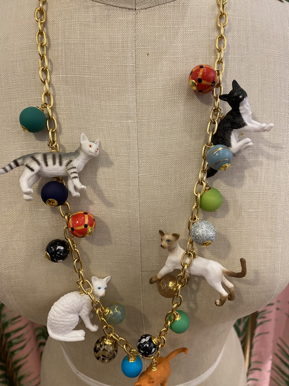 Long Trinket Cat Necklace