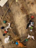 Load image into Gallery viewer, Long Trinket Cat Necklace